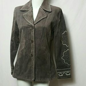 Nordstrom Women New SMALL leather jacket  Blazer